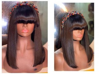 Wig with bangs ..10 inch to 20 inch